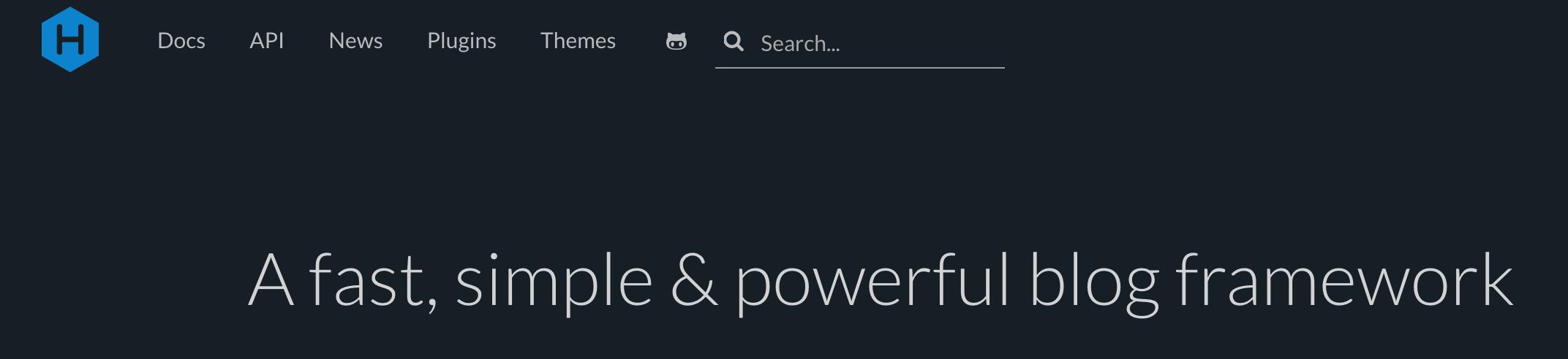 hexo homepage